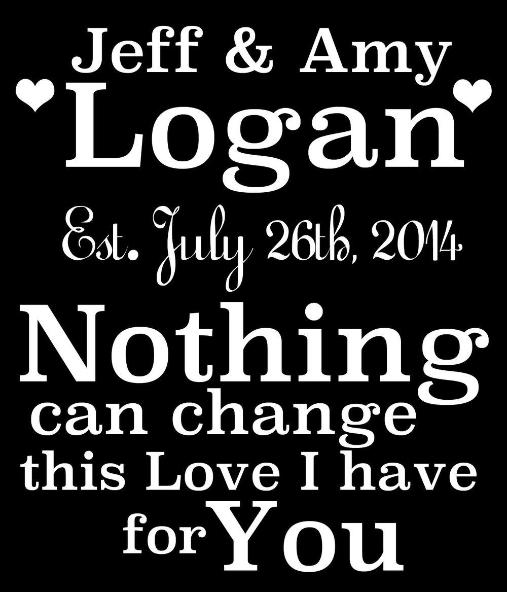 Wedding // Jeff and Amy // 18x21 // $65