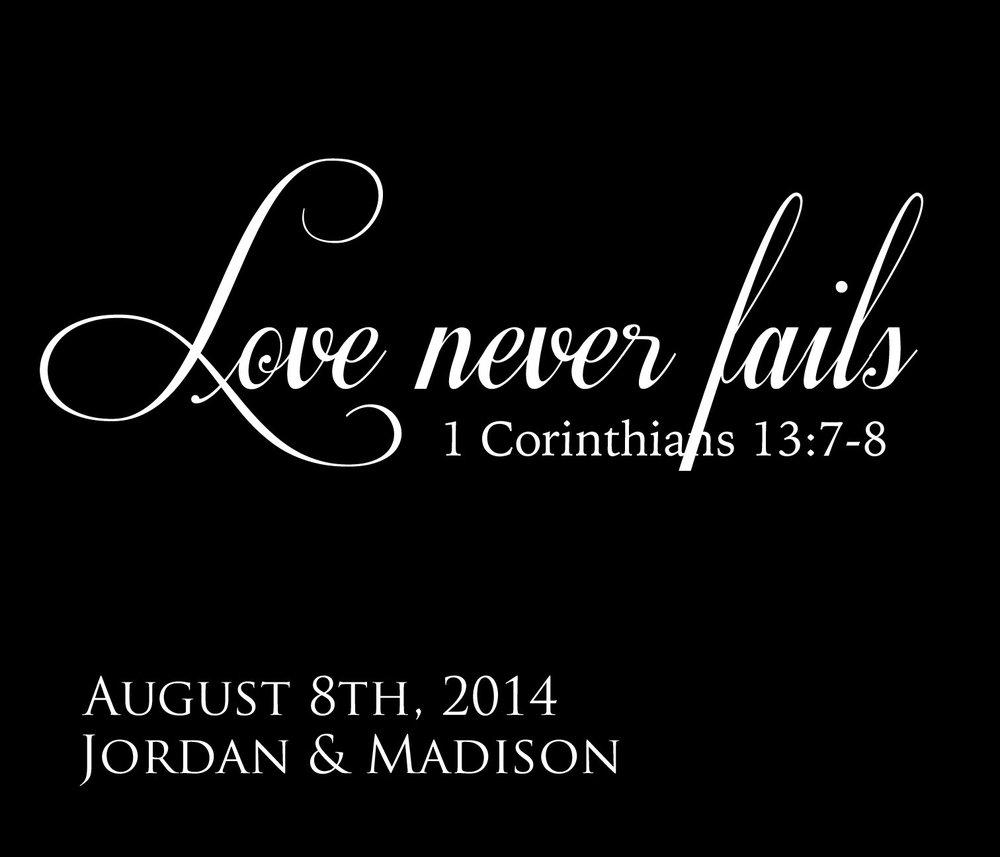 Wedding // Jordan and Madison // 18x21 // $65