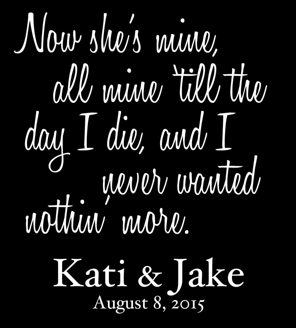 Wedding // Kati and Jake // 18x21 // $65