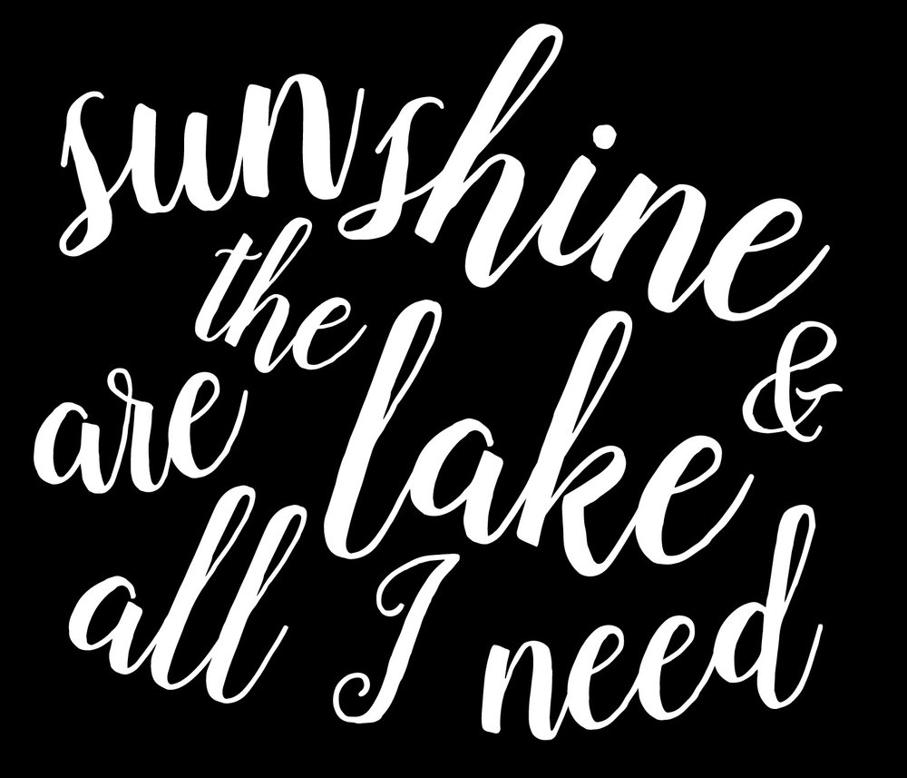 Summer // Sunshine and the Lake // 18x21 // $65