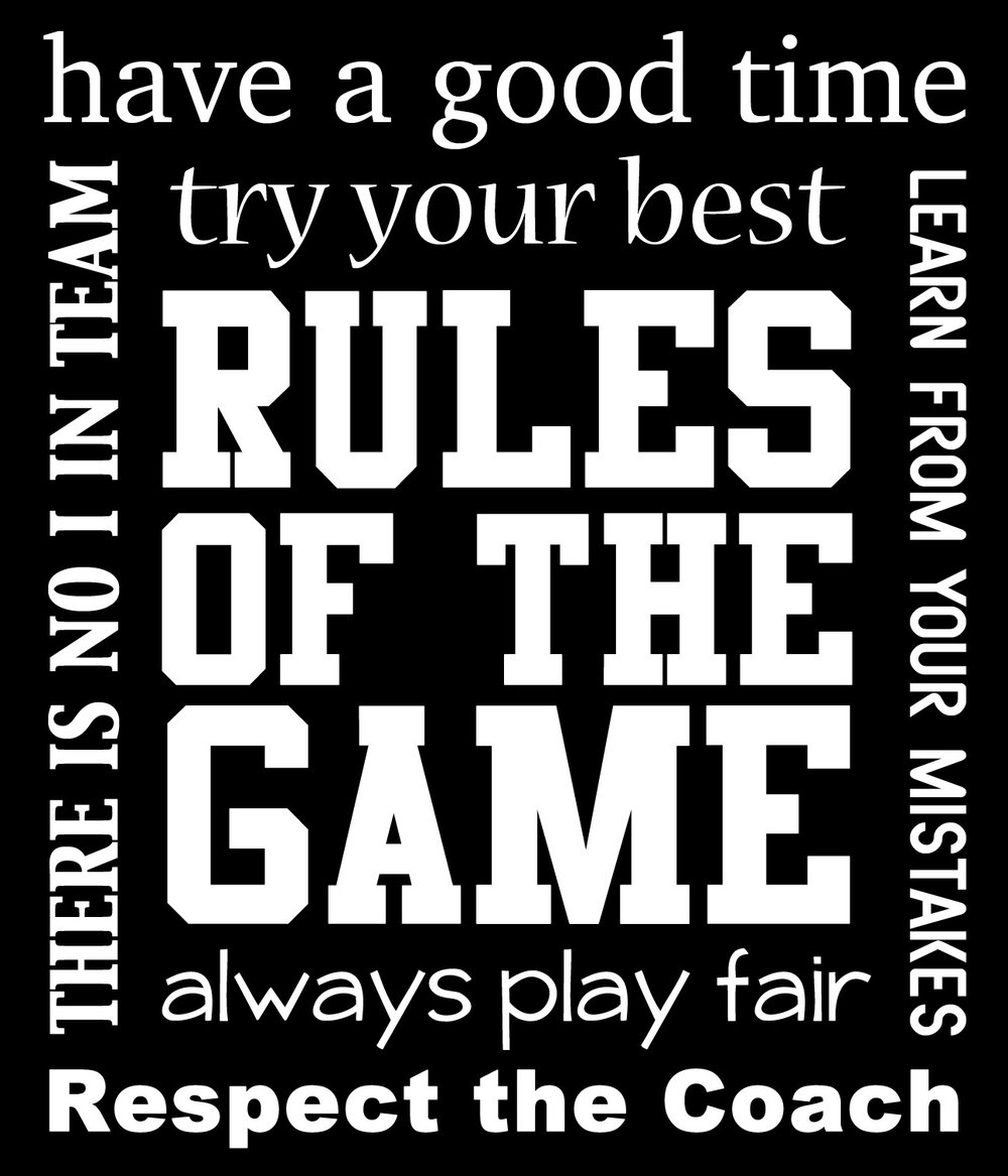 Sports // Rules of the Game // 18x21 // $65