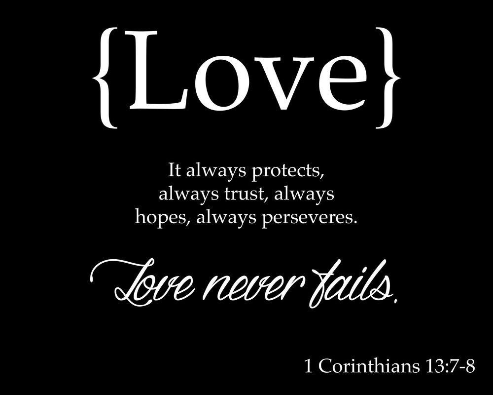 Spiritual // 1 Corinthians 13-7-8 Horizontal // 18x21 // $65