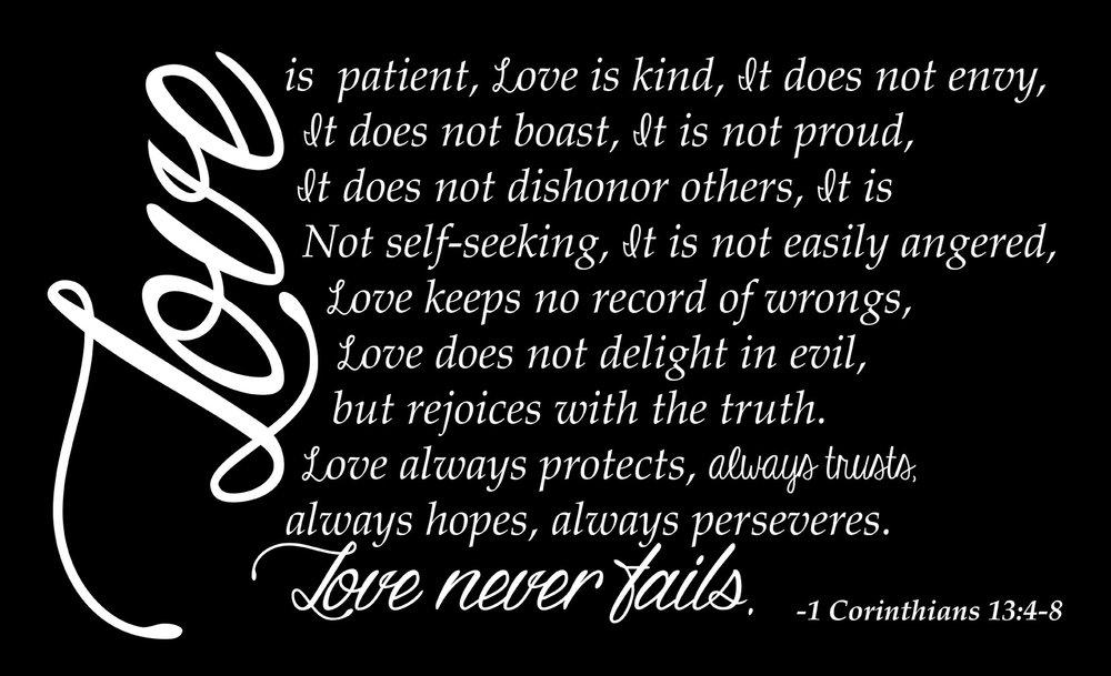 Spiritual // 1 Corinthians Love // 14x23 // $65