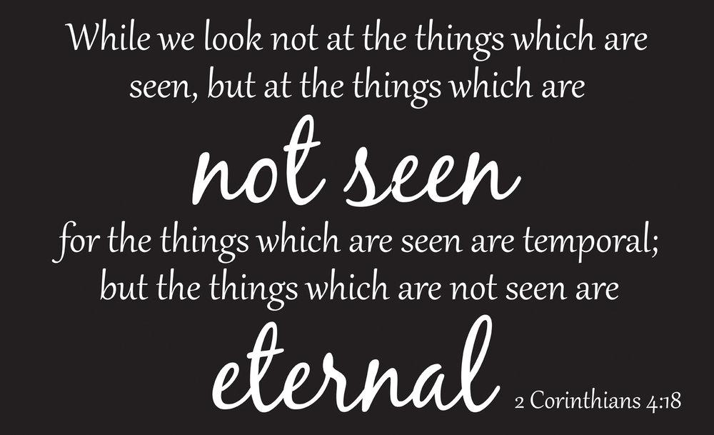 Spiritual // 2 Corinthians 4-18 // 14x23 // $65