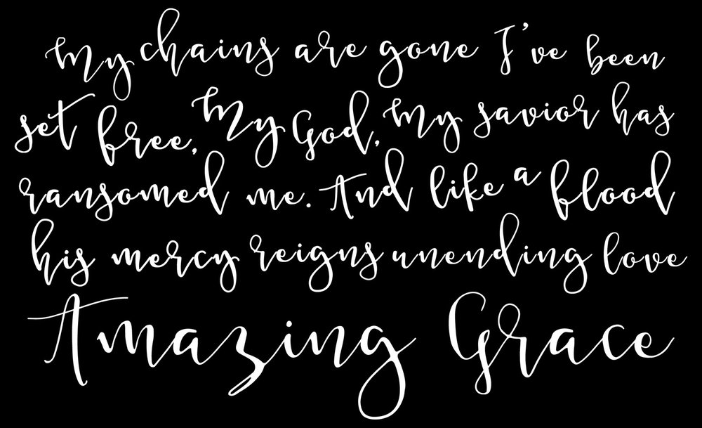 Spiritual // Amazing Grace // 14x23 // $65