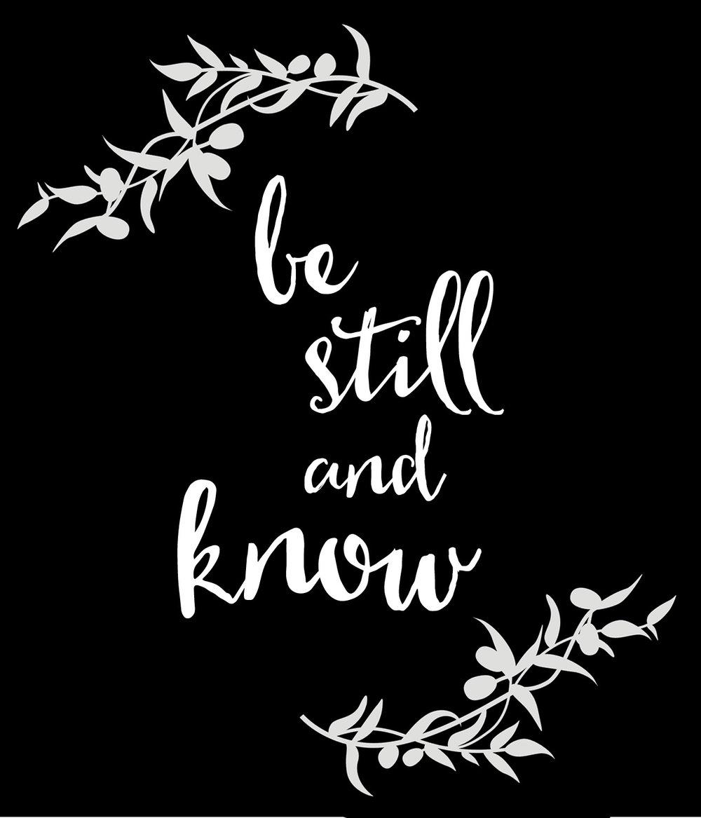 Spiritual // Be Still // 18x21 // $65