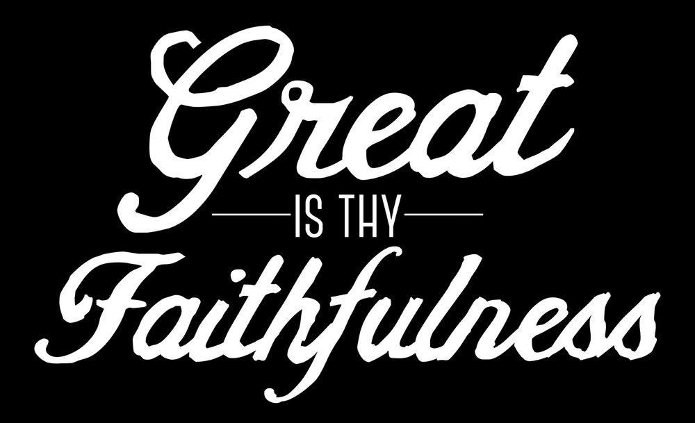 Spiritual // Great Is Thy Faithfulness // 14x23 // $65