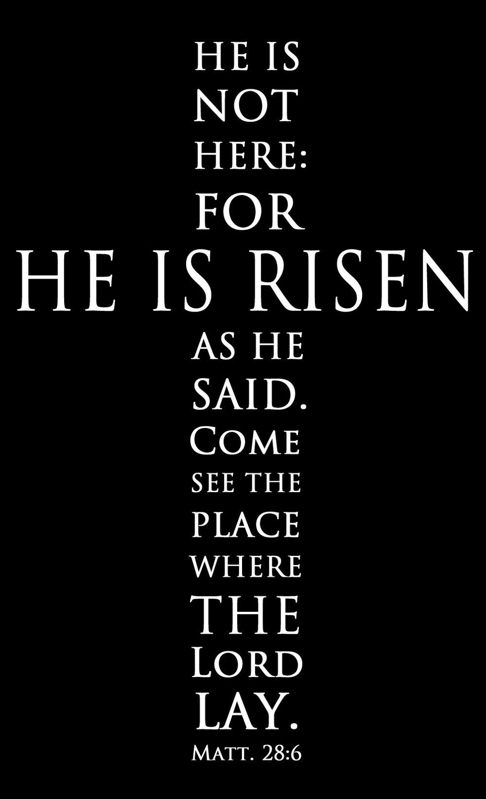 Spiritual // He Is Risen // 14x23 // $65