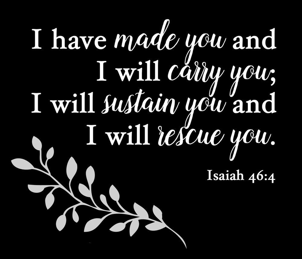 Spiritual // Isaiah 46-4 // 18x21 // $65