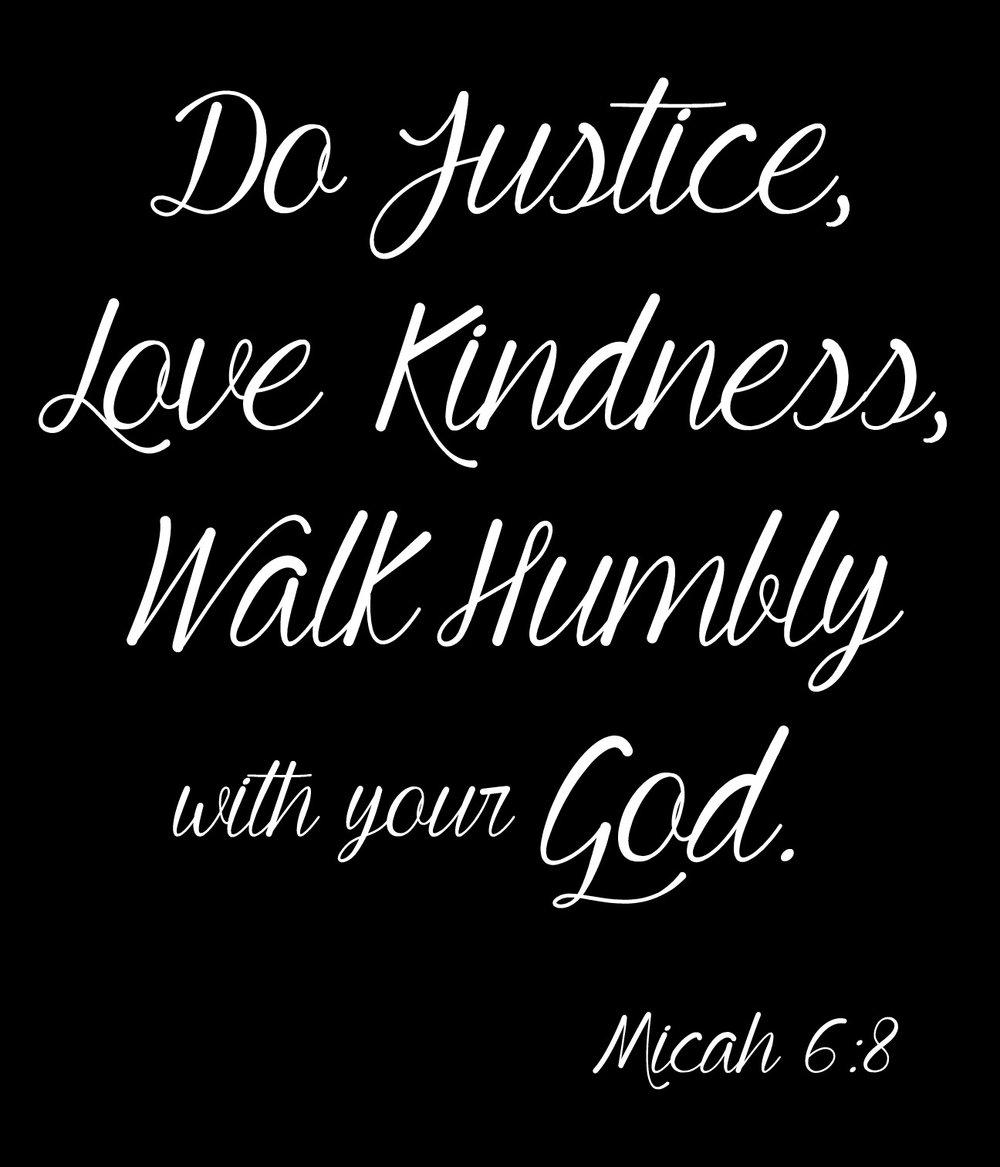 Spiritual // Micah 6-8 Do Justice // 18x21 // $65