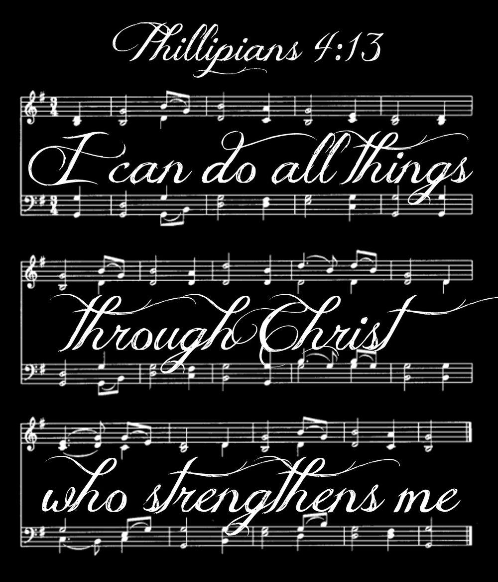 Spiritual // Music Phillipians 4-13 // 18x21 // $65