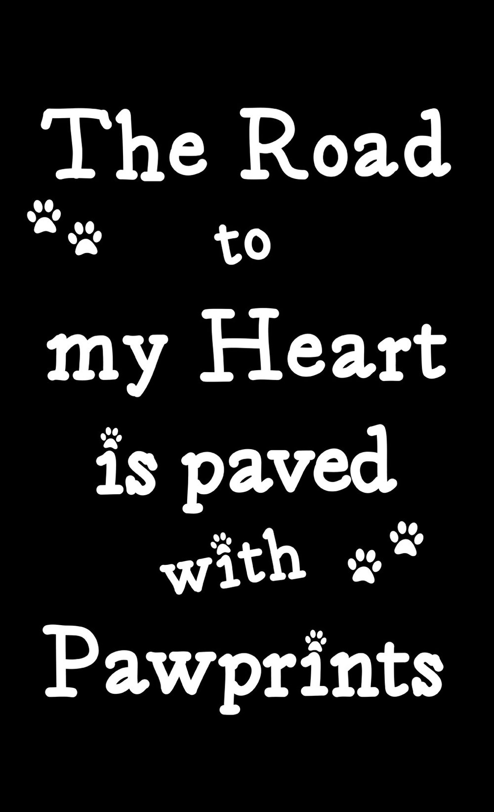 Pets // Paved with Paw Prints // 14x23 // $65
