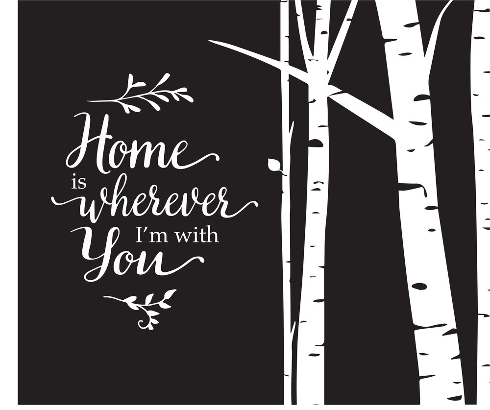 Home // Home is Wherever // 18x21 // $65