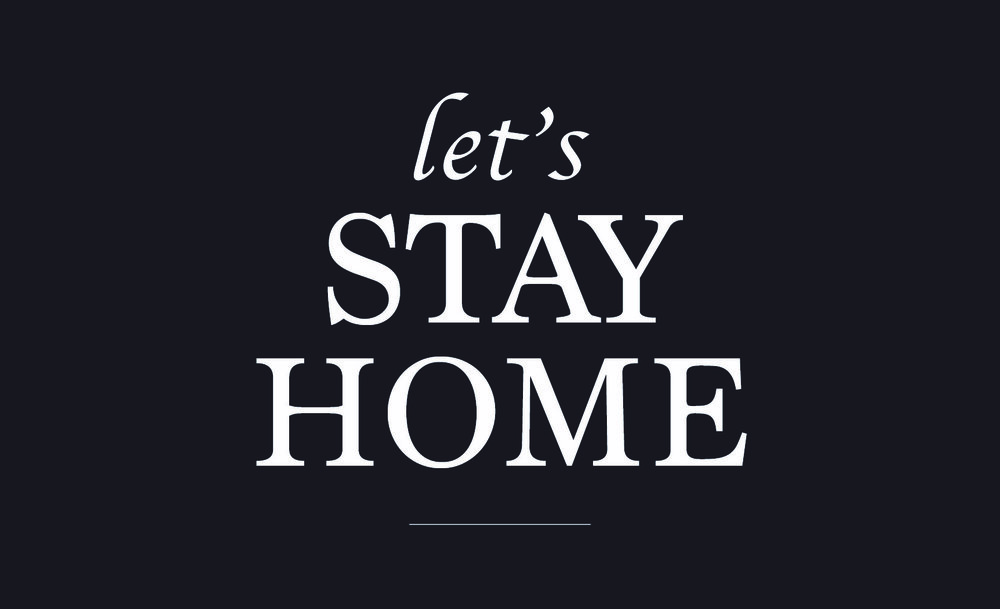 Home // Lets Stay Home // 14x23 // $65