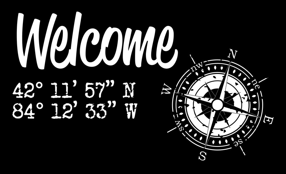 Home // Welcome Coordinates // 14x23 // $65
