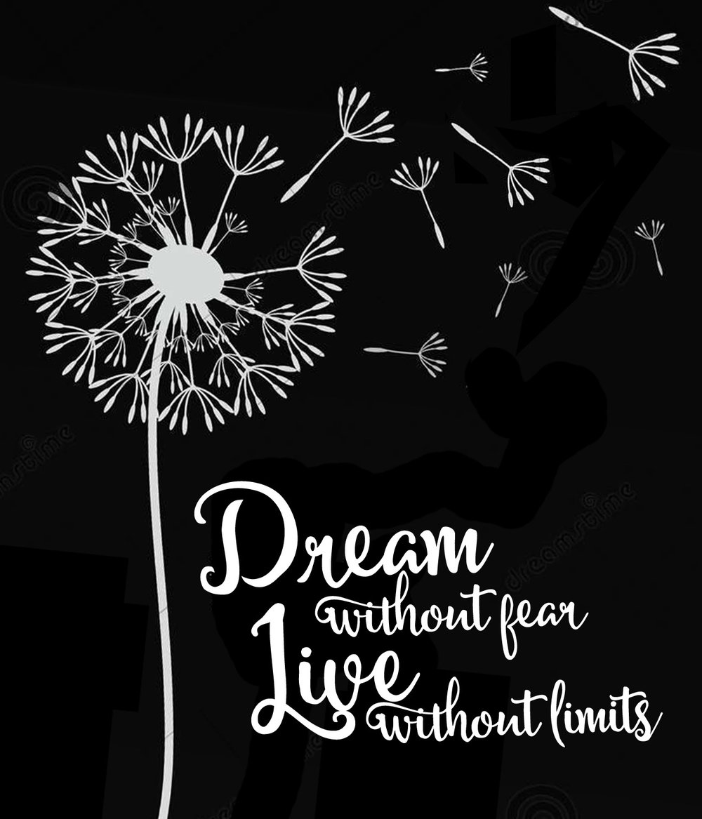 Inspiration // Dream Without Fear // 18x21 // $65