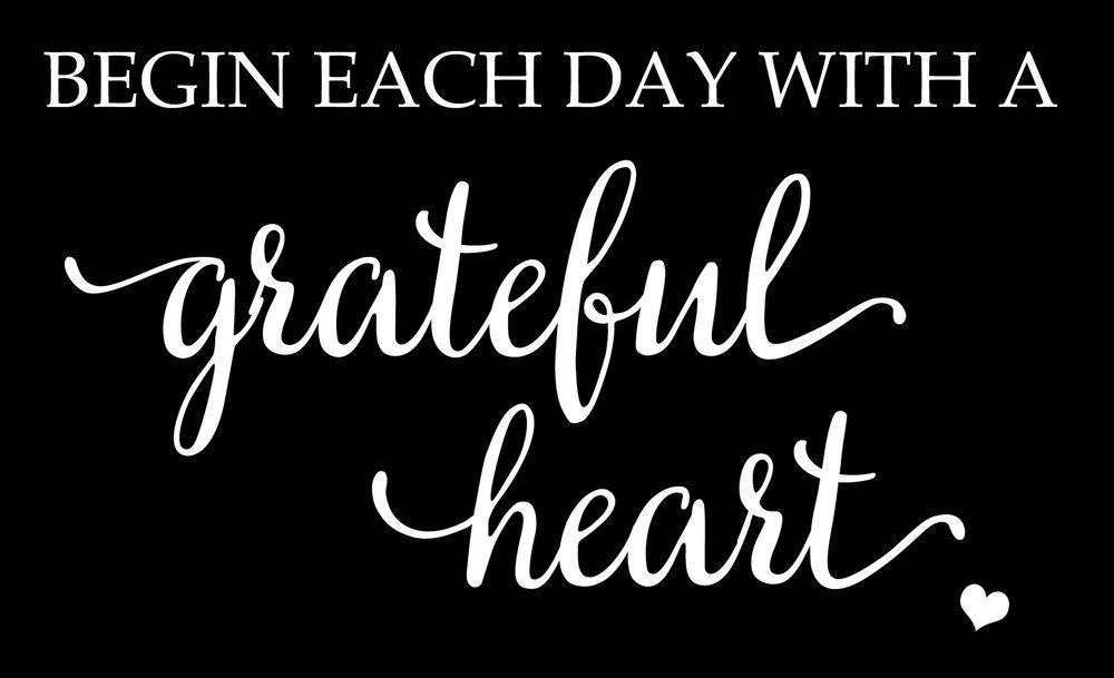 Inspiration // Gratefull Heart Mini Heart // 14x23 // $65