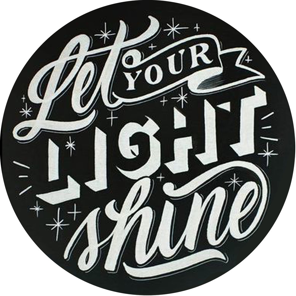 """Inspiration // Let Your Light Shine // 24"""" Round // $75-$85"""
