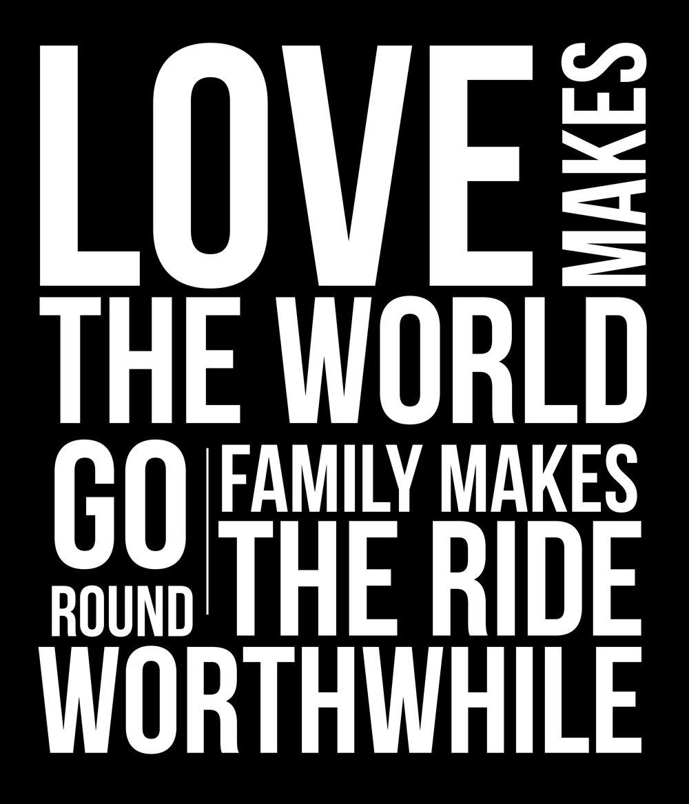 Inspiration // Love World Round // 18x21 // $65