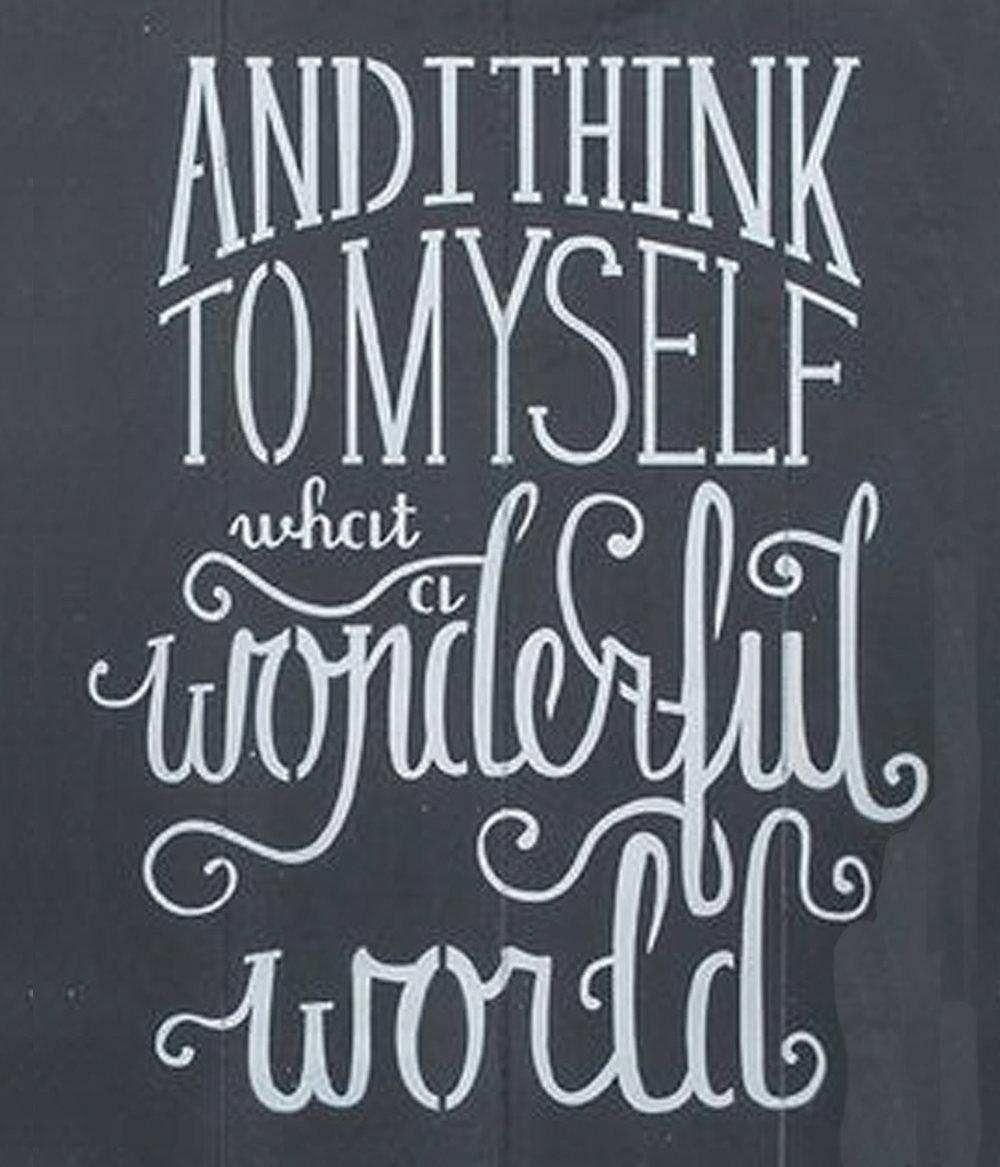 Inspiration // What a Wonderful World // 18x21 // $65