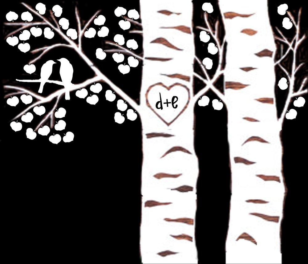 Love // Birch Trees and Birds // 18x21 // $65