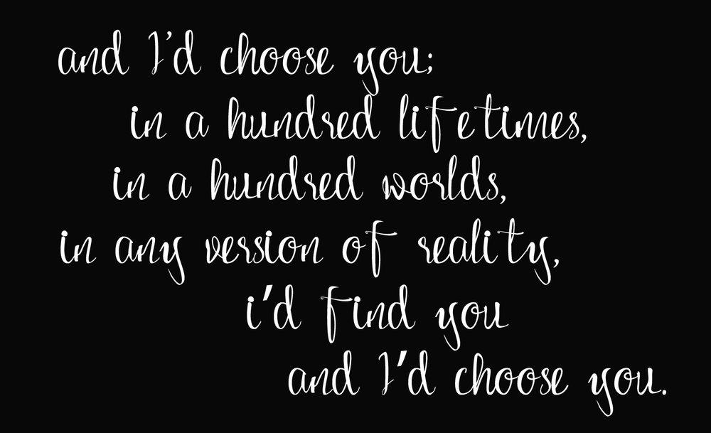 Love // Choose You // 14x23 // $65