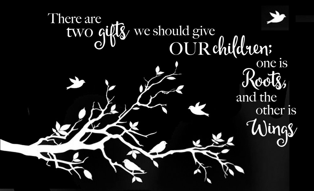 Inspiration // Two Gifts We Give Horizontal // 14x23 // $65