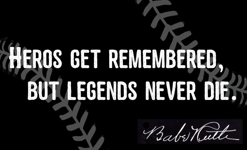 Sports // Legends Never Die // 14x23 // $75