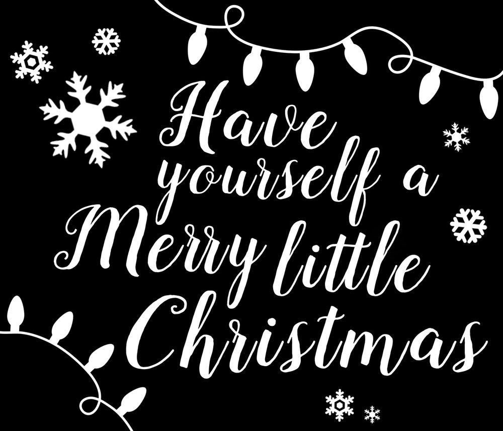 Christmas // Snowflakes Merry Little Christmas // 18x21 // $65