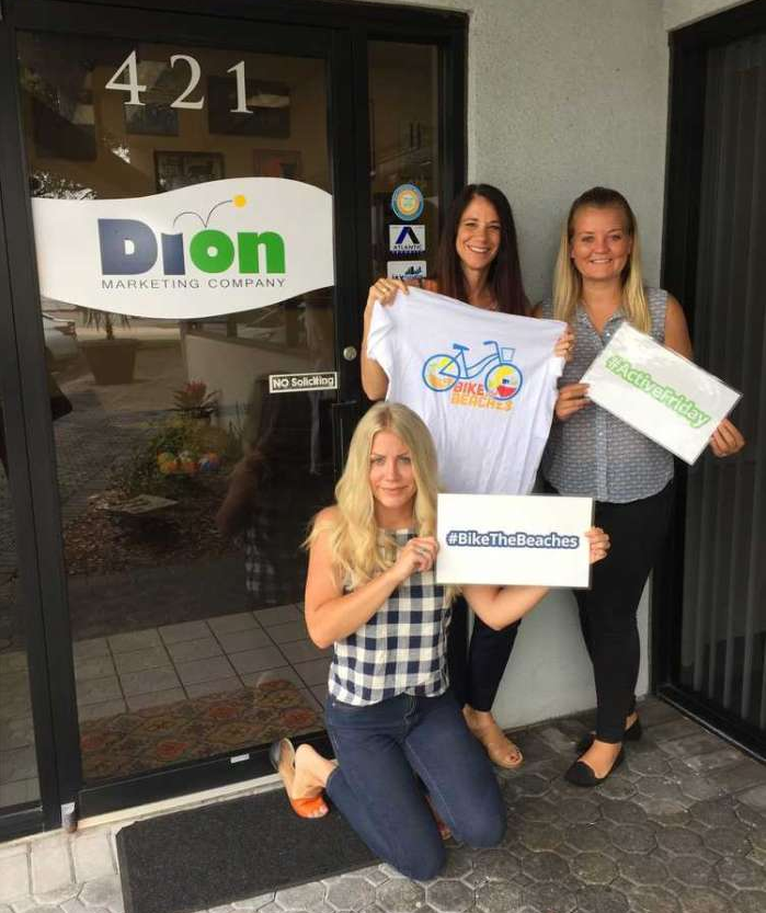Dion Marketing hosts Active Friday and Bike the Beaches