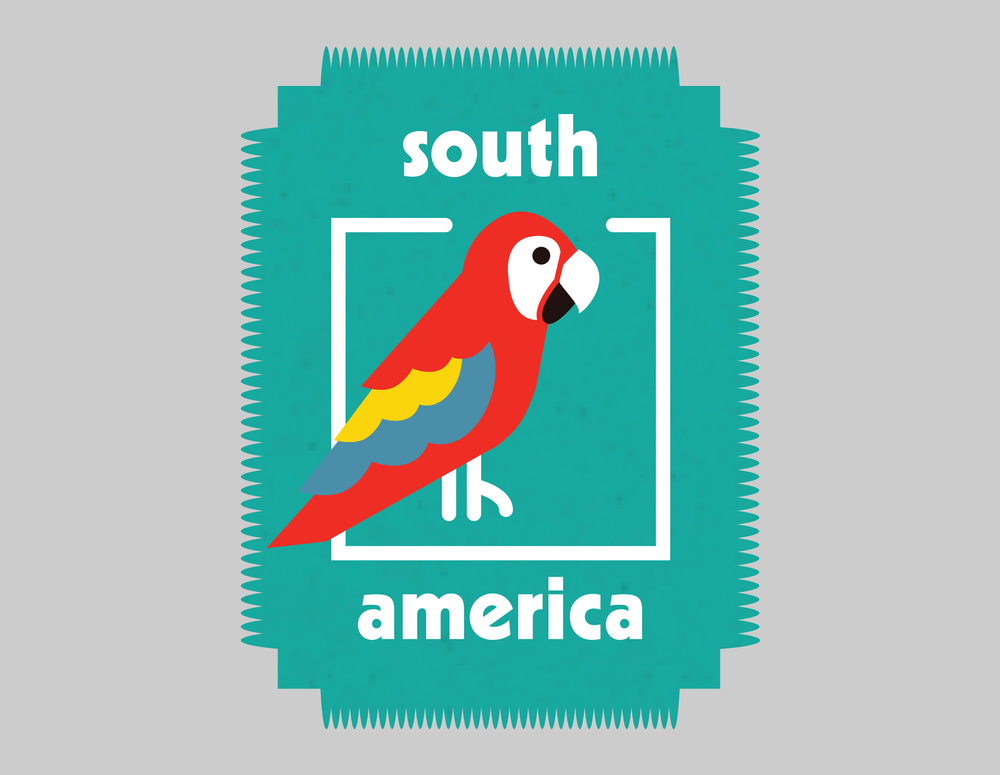 "South America ""stamp"" designed for Zue"