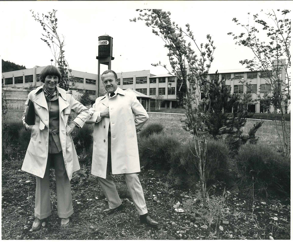 Meridel and Byron at Johns Landing on a photo shoot from Bachman/Ferris days, 1969.