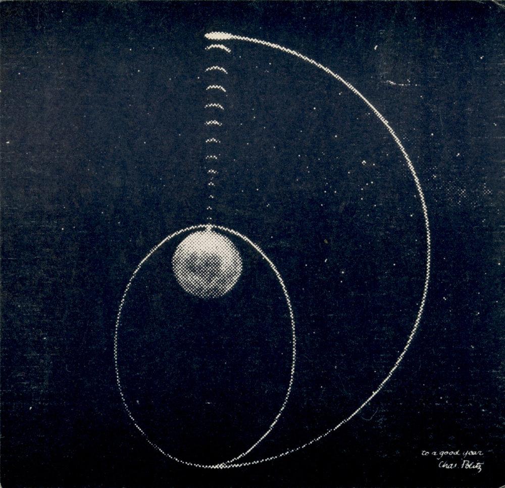 Charles Politz card celebrating the launch of Sputnik