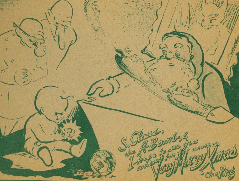 Charles Politz, 1945 New Year's Card