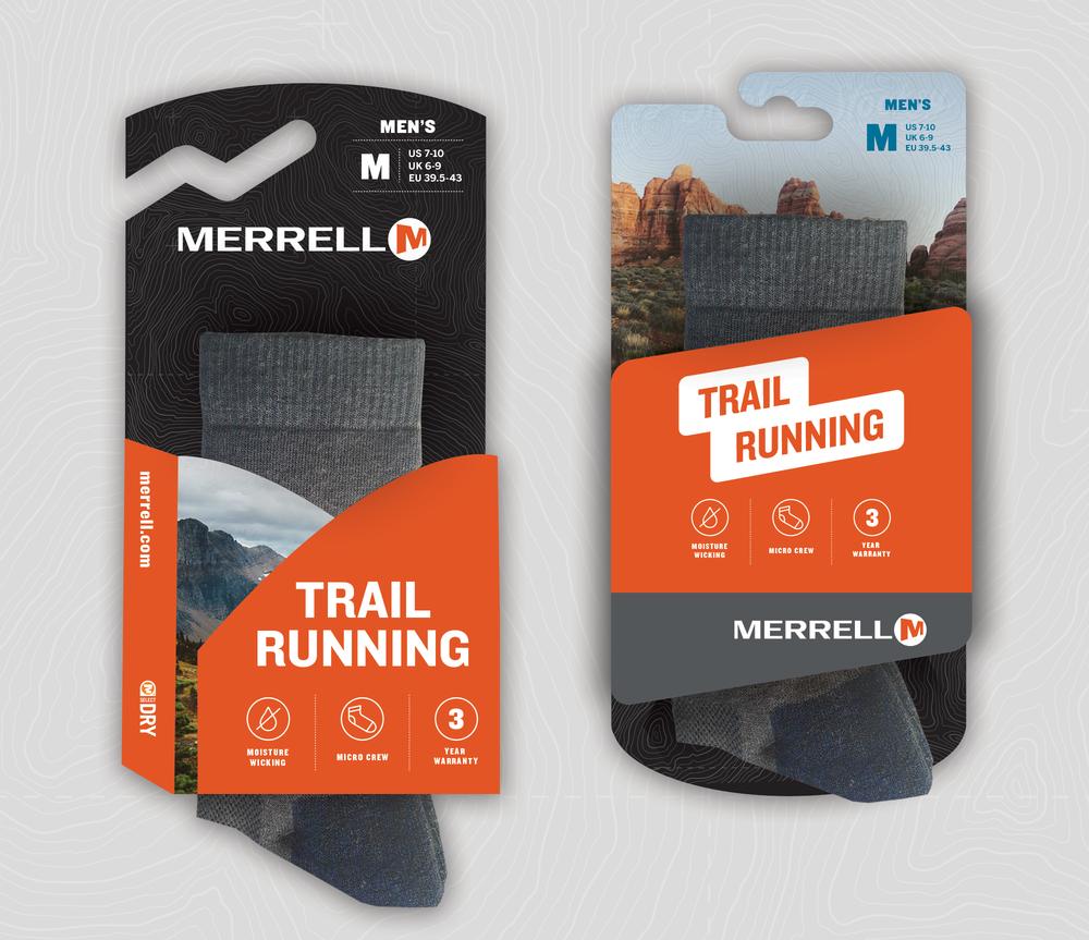 merrell sock packaging meldel