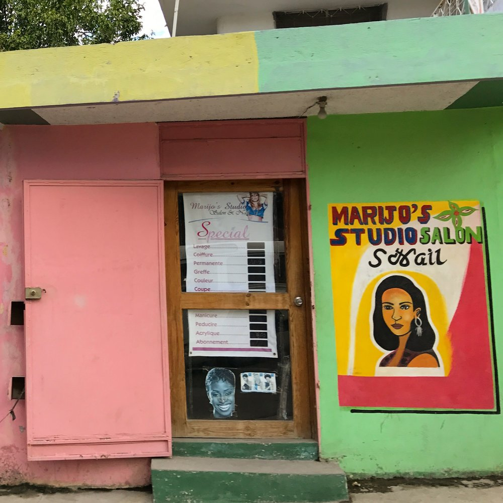 Color inspiration from Haitian storefronts.