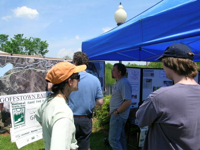 Friends of the Greenway (now Friends of the Goffstown Rail Trail) Display Booth at Goffstown Old Home Day 2005