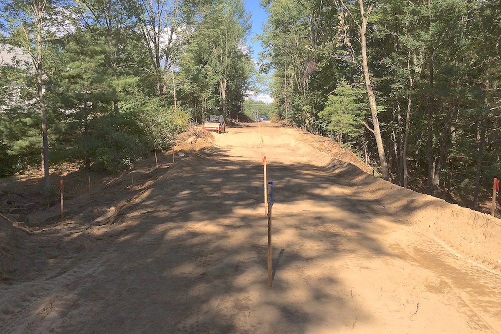 Nearing final grade at former Henry Bridge Road gully