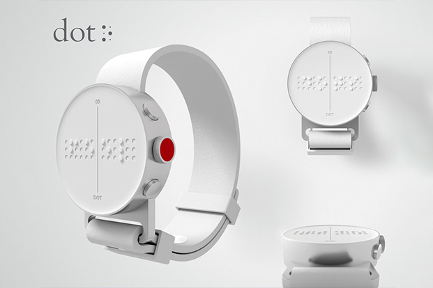 """""""DOT - The first Braille Smartwatch"""" Smartwatch technology that will change the lives of millions of blind and vision impaired.    Click for Video Ad"""