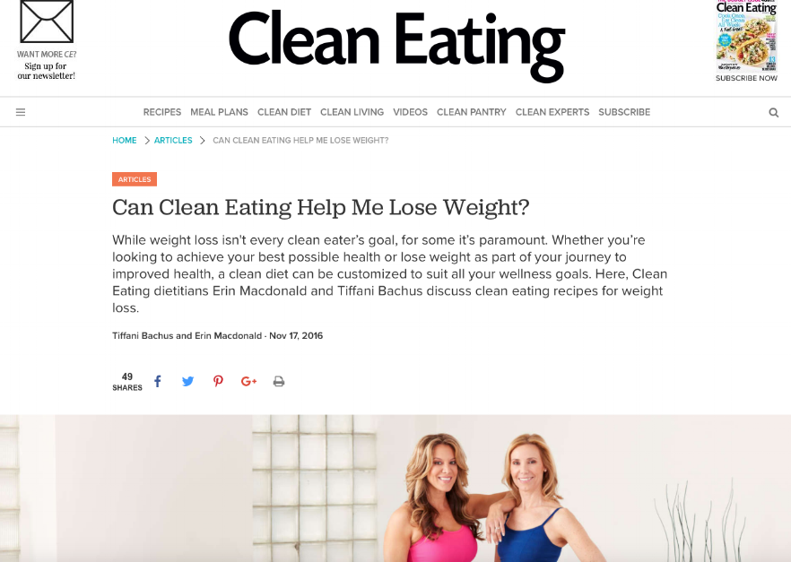resource #2 - Clean Eating Magazine- Great article on why getting started on a whole food diet will not only help you lose weight, but also reduce risk for disease and even eliminate existing ailments. *My tip- Try and stay on the outside's of the grocery store avoiding a large majority of the processed foods located in the middle.
