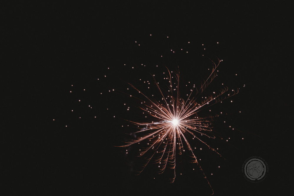 Sarah Marsden, a local Nottinghamshire doula and photographer, enjoys photographing fireworks to celebrate the beginnings of the new year.