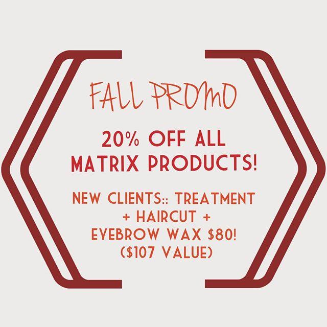 #happyfall #promotion #fallpromo #matrix #newclients #newlook #LMsalon #stamford #booknow