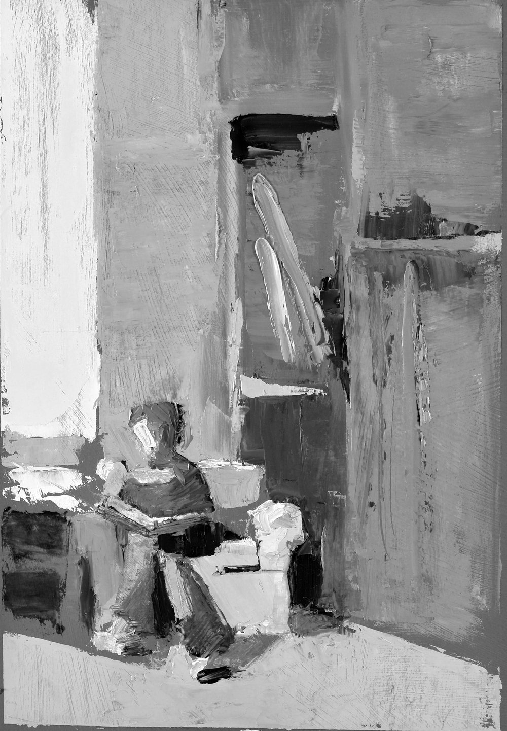 Self Portrait, Sketching in Studio