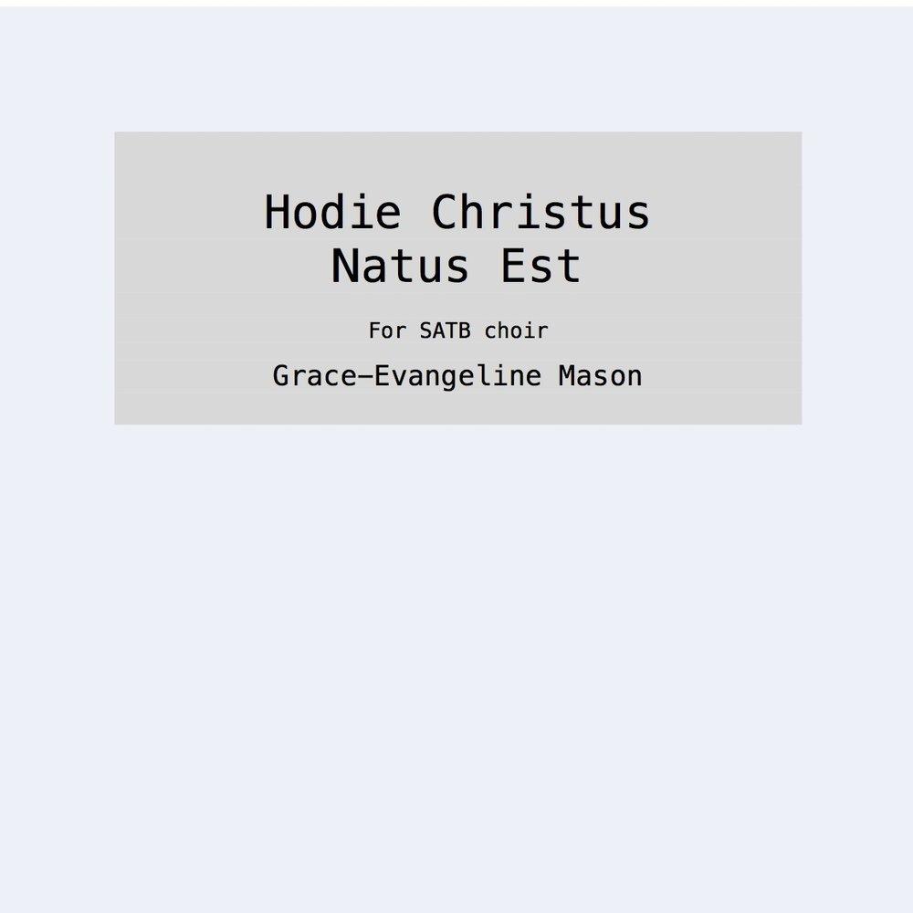 Hodie Christus Natus Est (2015)