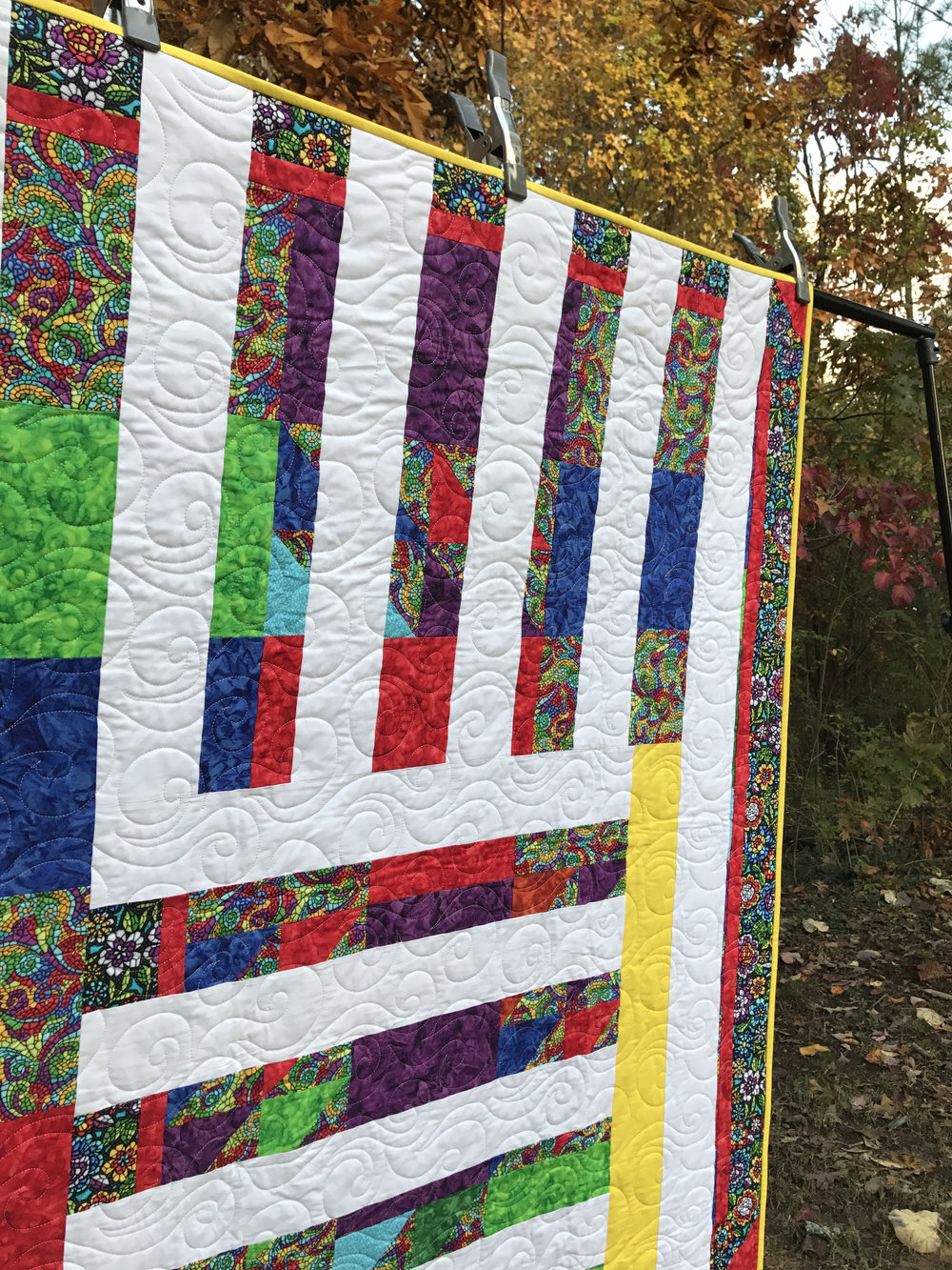 The quilting was done by ChattMQG member Beverly Herron