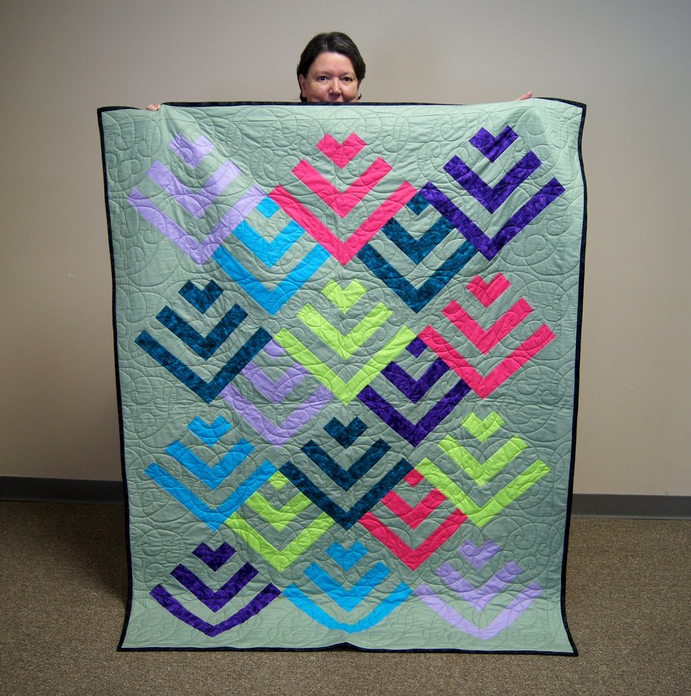 Beverly brought two quilts for show and tell!