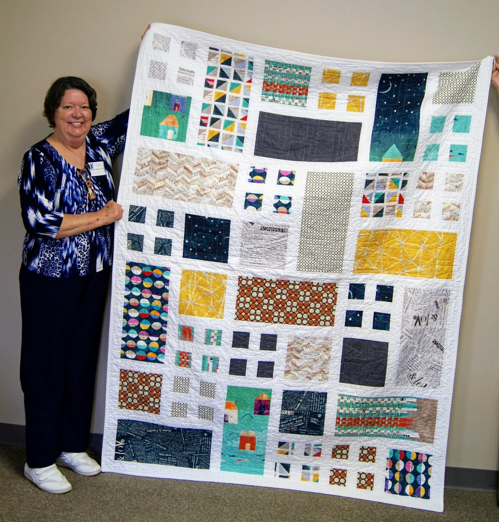 Beverly used her favorite fabric to make this quilt