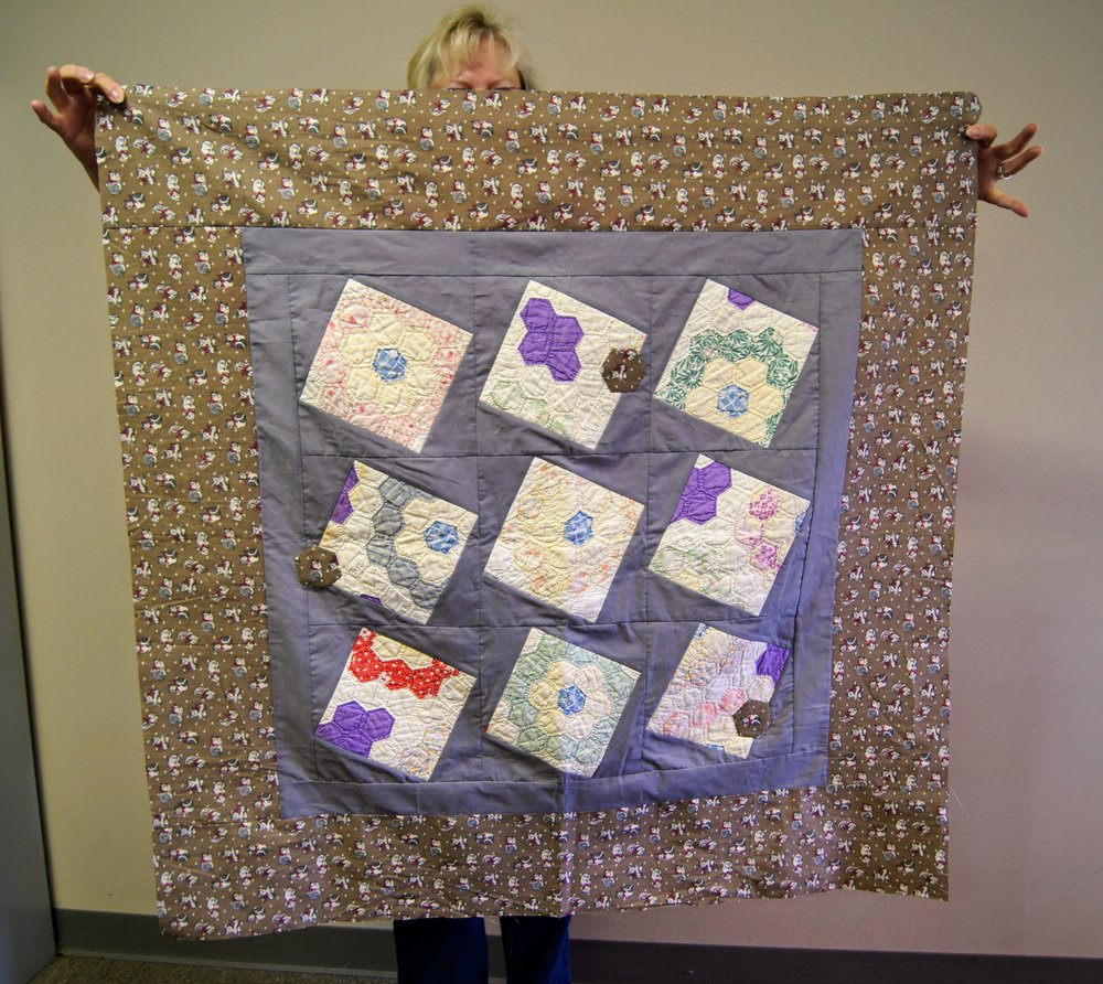Karen/Jackie's quilt from the Mary Kerr workshop
