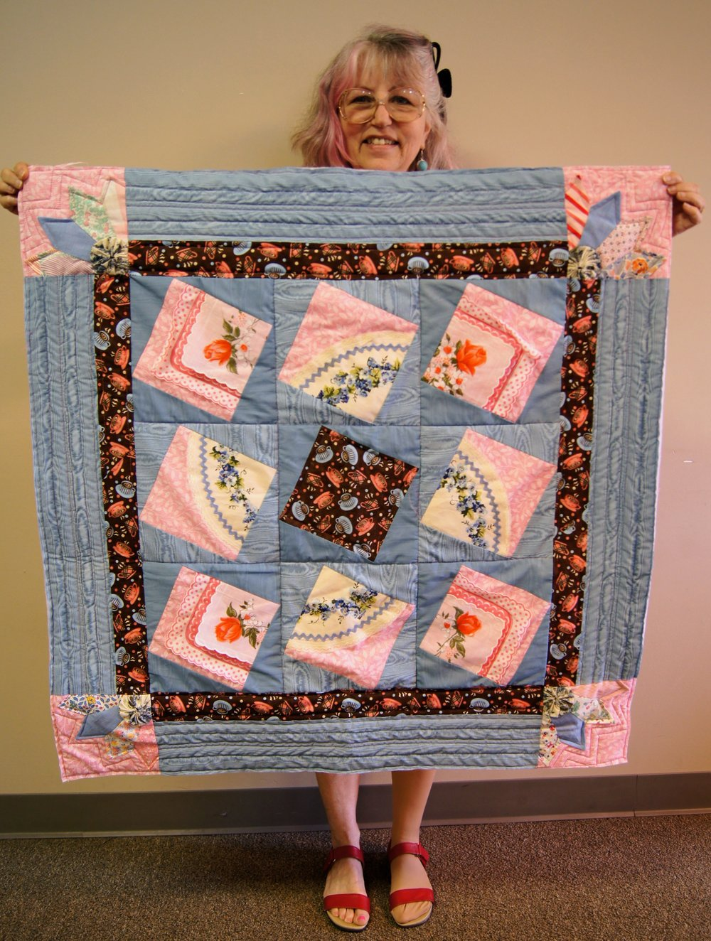 Jackie Cory's quilt from the Mary Kerr workshop