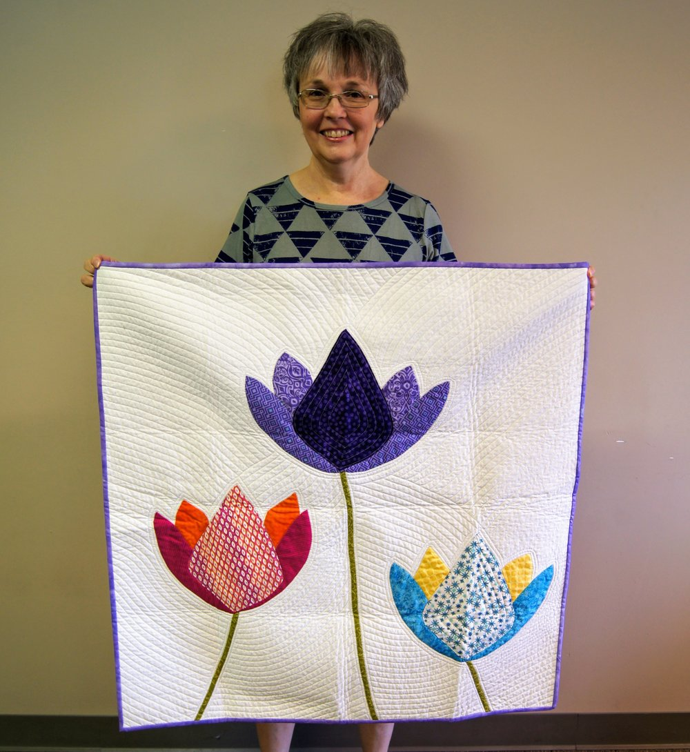 Patricia Steadman's appliqué flowers